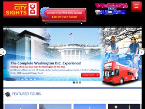 CitySights DC website