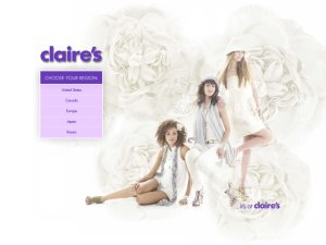 Claire's website