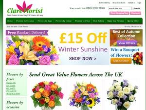Clare Florist website