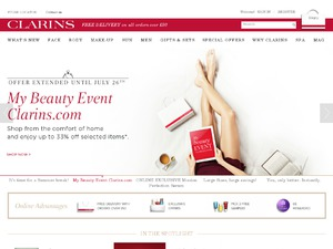 Clarins website