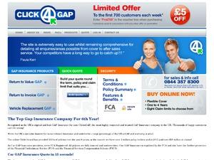 Click4Gap website