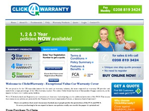 Click4Warranty website