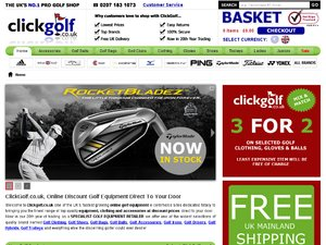 Click Golf website