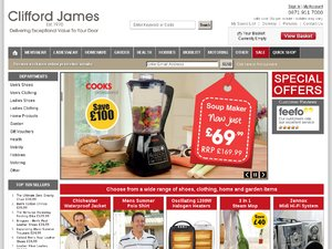 Clifford James website