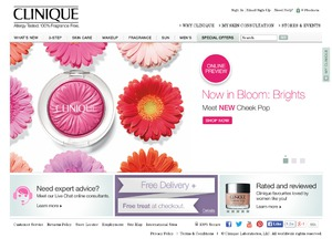 Clinique website