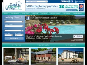 Coast & Country Cottages website