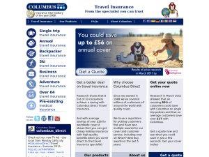 Columbus Direct website
