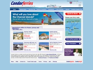 CondorFerries website
