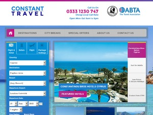 Constant Travel website