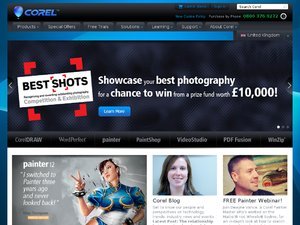 Corel UK website