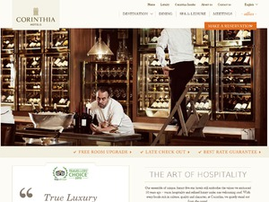 Corinthia US & CA website