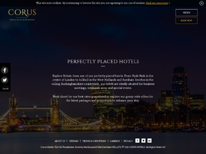 Corus Hotels website