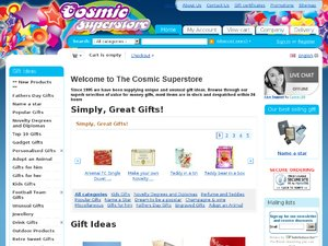 Cosmic Superstore website