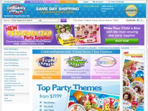 Costume Express website