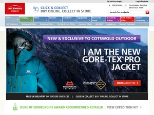 Cotswold Outdoor website