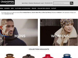 Craghoppers website