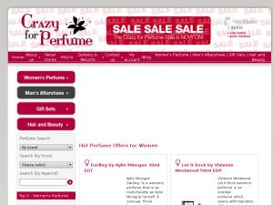 Crazy For Perfume website