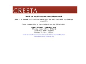 Cresta Holidays website