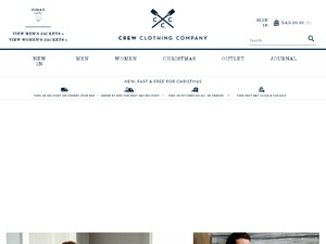 Crew Clothing website