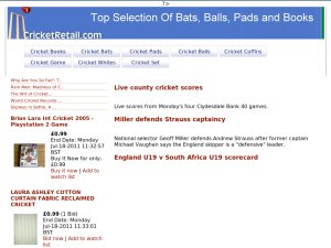 Cricket Retail website