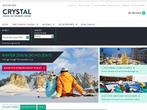 Crystal Ski website