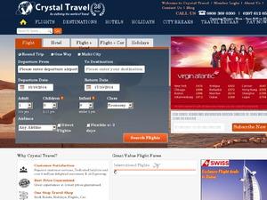 Crystal Travel website