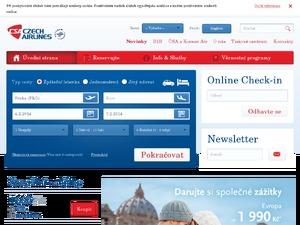 Czech Airlines UK website