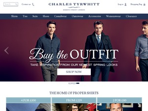 Charles Tyrwhitt Shirts website