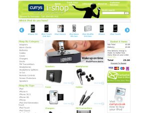 Currys iShop website