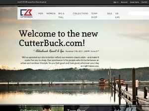 Cutter and Buck website