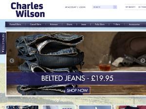 Charles Wilson Clothing website