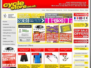 Cycle Store website