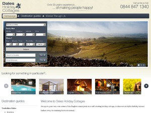 Dales Holiday Cottages website