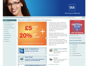 D&A The Opticians website