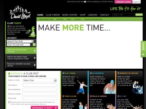 David Lloyd Leisure website