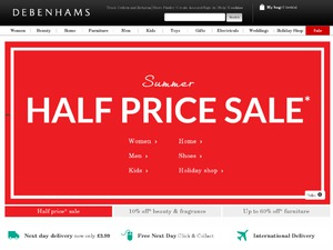 Debenhams website