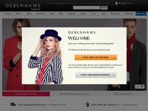 Debenhams Ireland website