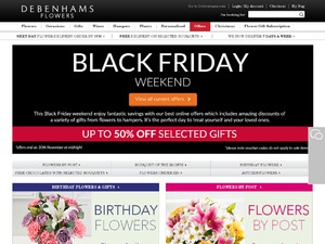 Debenhams Flowers website