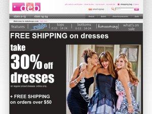 deb shops website