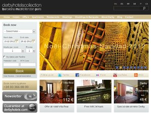 Derby Hotels website