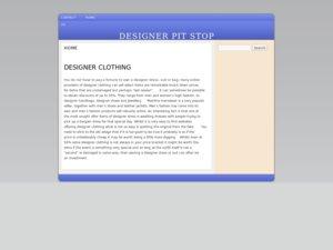 Designer Pitstop website