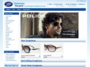 Designer Sunglasses (D&A) website
