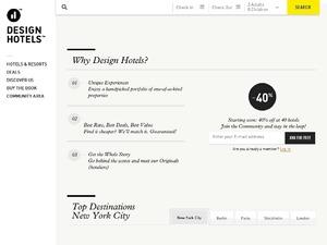 Design Hotels website