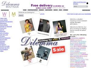Dilemma Boutique website