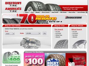 Discount Tire website