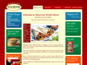 Discovery Foods Direct website
