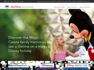 Walt Disney Travel Company Florida Holidays website