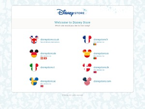DisneyStore website