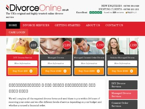 Divorce Online website