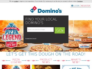 Dominos Pizza website